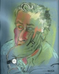 Older man musing